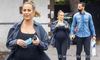 Pregnant Kate Ferdinand steps out for lunch with her husband Rio Ferdinand