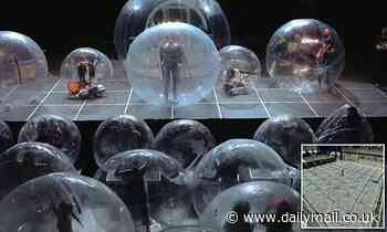 The future of concerts? The Flaming Lips and fans rock out inside plastic bubbles during show
