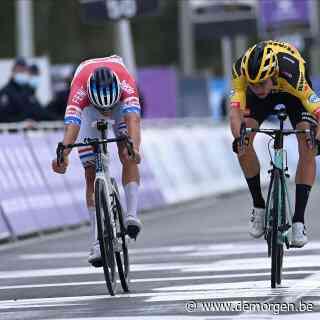 Mathieu Van der Poel wint de Ronde van Vlaanderen na spannend duel met Wout Van Aert