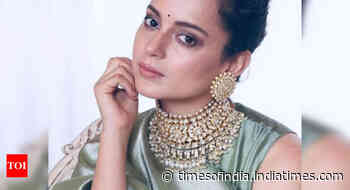 Kangana aces the saree look with elegance