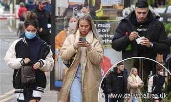 Molly-Mae Hague steps out with her boyfriend Tommy Fury and pal Maura Higgins
