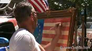 Patriotic artist running for NYC mayor says city is 'so aggravated'