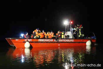 Aschaffenburg: Feuerwehr übt nächtlichen Einsatz auf dem Main mit Tauchern und Booten - Main-Echo