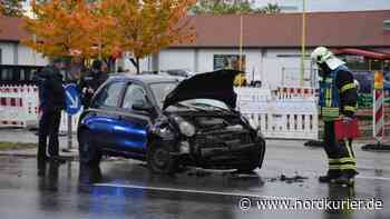 Verkehrsbehinderung nach Unfall in Neubrandenburg - Nordkurier