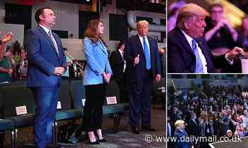 Generous Trump puts wad of cash into the collection box at church in Las Vegas