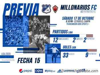 Millonarios vs Patriotas en vivo online por la Liga BetPlay de Colombia | Millonarios vs Patriotas | Millo ... - Futbolete