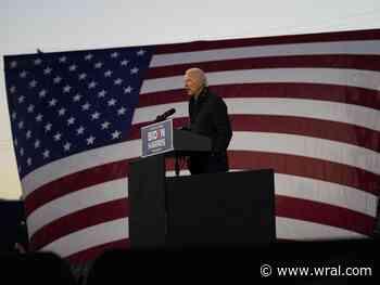 Joe Biden speaks at Riverside high school in Durham, encourages people to vote early