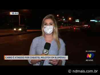 Carro é atingido por coquetel molotov em Blumenau - ND - Noticias