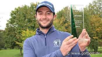 Pro Golf Tour: Léo Mathard dominiert die Qualifying School im GC Paderborner Land - Golf Post