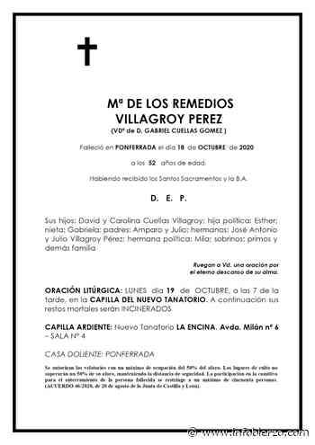 Mª DE LOS REMEDIOS VILLAGROY PEREZ - Infobierzo.com