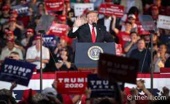 Rally crowd chants 'lock him up' after Trump calls Biden family 'a criminal enterprise'