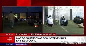 San Miguel: Policía interviene a más de 60 personas celebrando una fiesta - El Comercio Perú