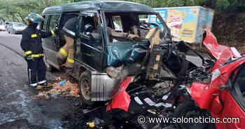 Al menos 4 lesionados tras aparatoso choque en Moncagua, San Miguel - Solo Noticias