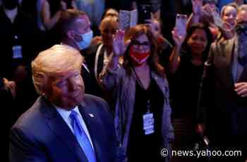 Donald Trump campaigns at Las Vegas church as congregation blesses him with 'second wind' for re-election