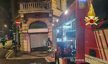Varese, negozio a fuoco in via Magenta - La Prealpina