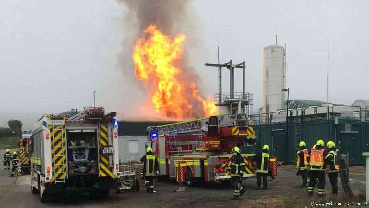 Explosionsgefahr: Silo brennt auf Karbener Biogasanlage - Wetterauer Zeitung
