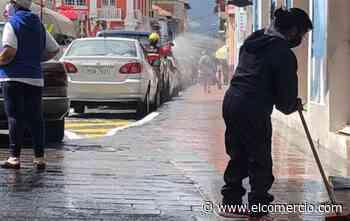 Minga de limpieza se realizó en el centro de Sangolquí - El Comercio (Ecuador)