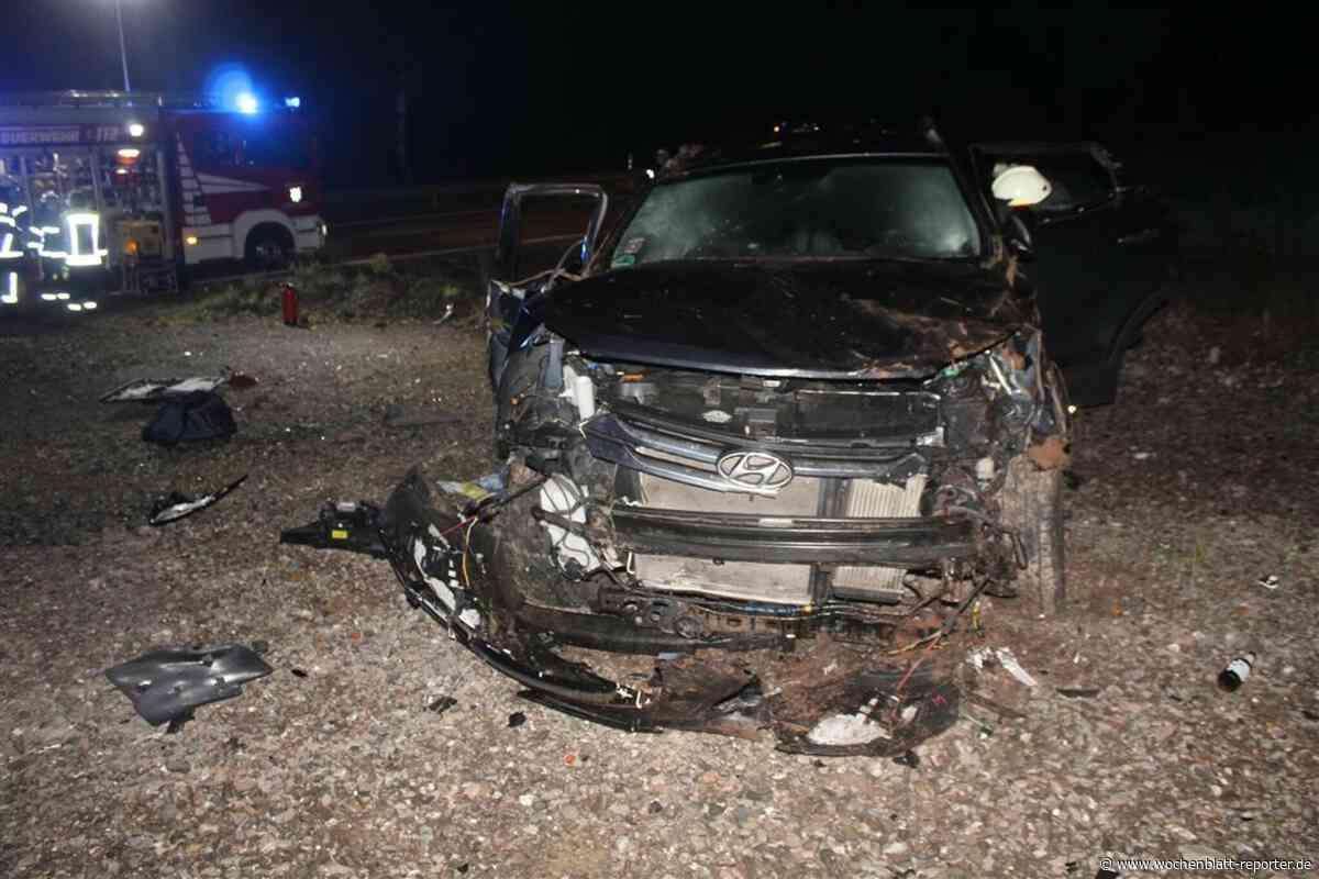 Unfall auf L350 bei Krottelbach: Auto überschlägt sich – Fahrer flüchtig - Wochenblatt-Reporter