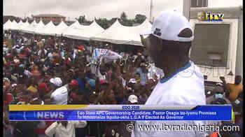 Pst. Ize-Iyamu promises to industrialize Ikpoba-Okha if elected as governor - Independent Television and Radio