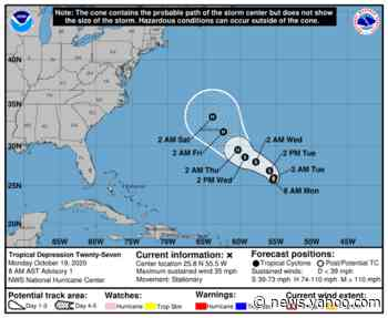 Tropical Depression 27 has formed. It could become Hurricane Epsilon this week
