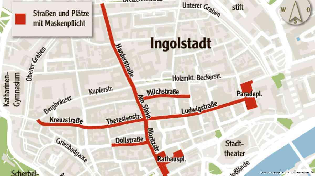 Maskenpflicht in der Ingolstädter Fußgängerzone - Augsburger Allgemeine