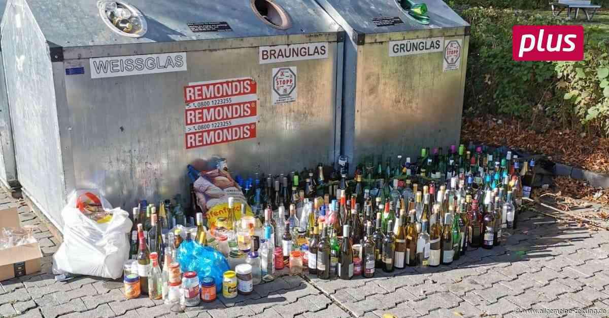 Altglasentsorgung sorgt für Ärger in Saulheim - Allgemeine Zeitung