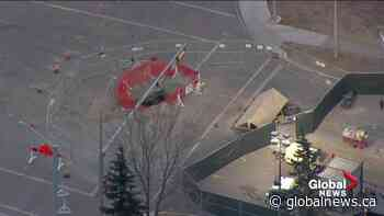 23-metre-deep sinkhole discovered at south Edmonton intersection will take months to repair