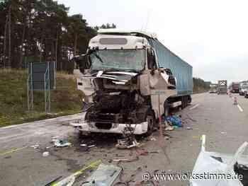 Autobahn: Schwerer Lkw-Unfall auf A2 bei Burg - Volksstimme