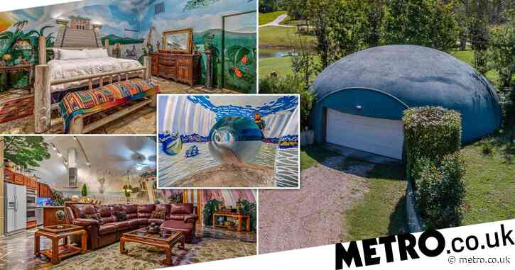 Colourful tornado-proof underground bunker nestled in 39 acres of land goes on sale for £1.4million