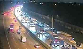 M25 is CLOSED for rush hour after serious crash involving an ambulance, HGV and car in Surrey