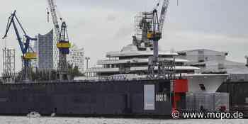 Yacht Eclipse von Roman Abramowitsch ist in Hamburg - Hamburger Morgenpost
