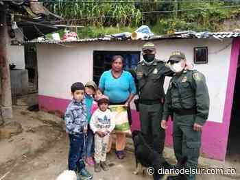 Uniformados entregan ayudas en Yacuanquer - diariodelsur.com.co