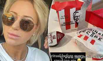 Roxy Jacenko tucks into a greasy fried chicken meal following SAS Australia exit drama