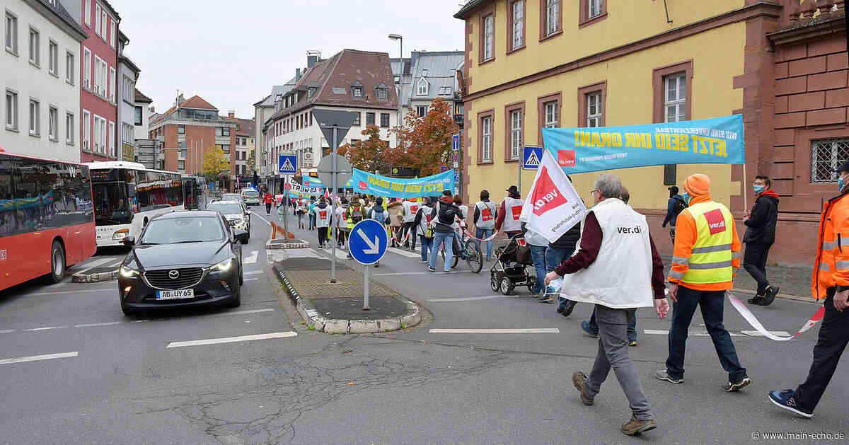 175 Teilnehmer bei Demo von Verdi in Aschaffenburg - Main-Echo