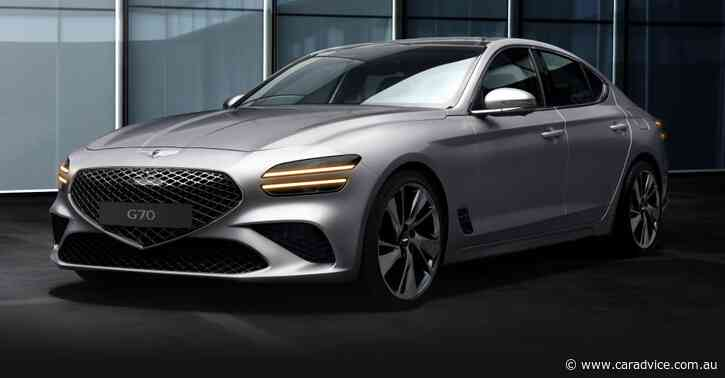 2021 Genesis G70 revealed – UPDATE: Engines and safety specs confirmed