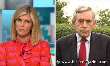 Kate Garraway becomes emotional after Gordon Brown's touching message regarding Derek Draper