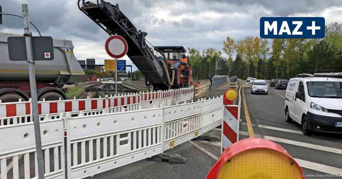 A10-Ausbau: Alte Brücke der B 96 in Birkenwerder soll gesprengt werden - Märkische Allgemeine Zeitung