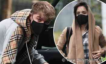 Strictly's HRVY and pro partner Janette Manrara head to rehearsals in face masks