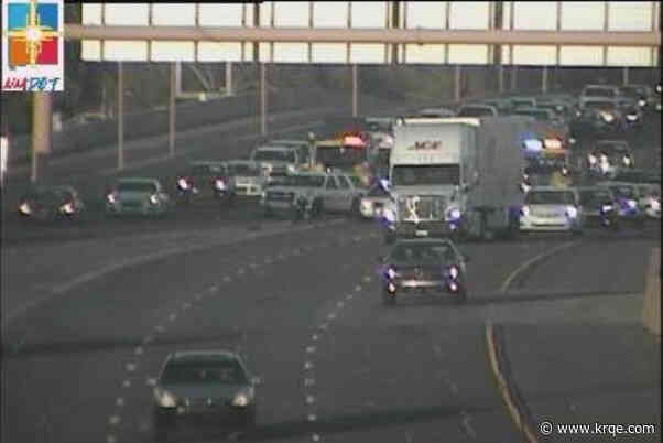 Crash closes 3 center lanes on eastbound I-40 at Big I