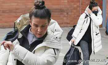 Rebekah Vardy heads to rehearsals for Dancing On Ice
