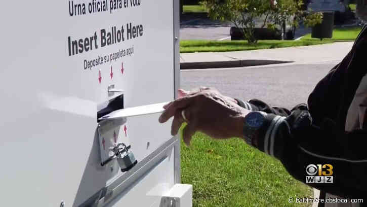 Ballot Boxes Secured To Prevent Tampering, But Maryland Voters Can Still Drop Off Ballots 24/7