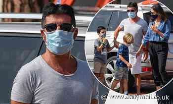 Simon Cowell, 61, steps out with his family after undergoing surgery on his broken back