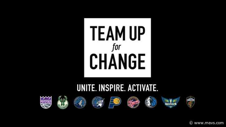 "Fans invited to join Mavs, other teams for ""Team Up For Change"" virtual summit Wednesday"