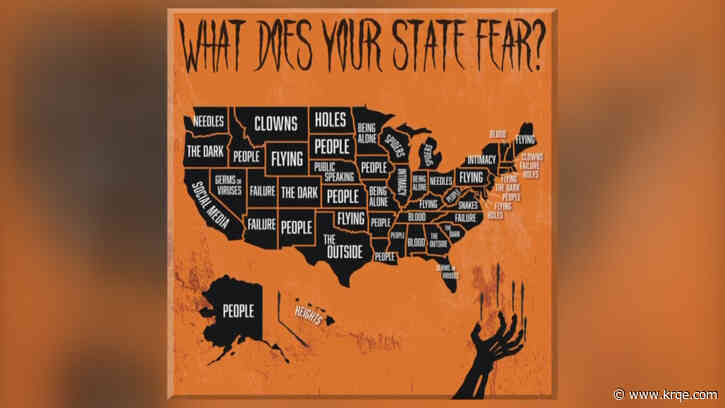 Report names biggest phobias in each state