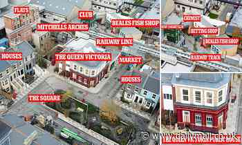 EastEnders' £87m set closer to completion as builders finish work on the redesigned Queen Vic
