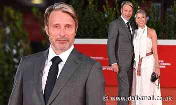 Mads Mikkelsen attends premiere of Another Round with wife Hanne Jacobsen during Rome Film Festival