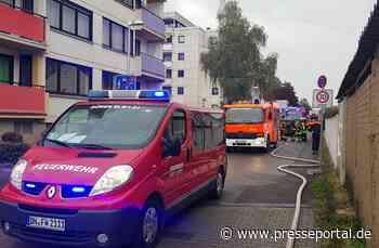 FW Düren: Kellerbrand mit Menschenrettung durch die Feuerwehr