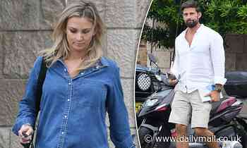 Pregnant Anna Heinrich shows off bump as she and husband Tim Robards exit Lisa Hyde's house