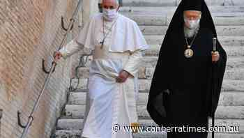 Pope wears mask at Vatican public service - The Canberra Times