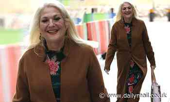 Vanessa Feltz continues to show off her 3.5 stone weight loss as she leaves BBC studios